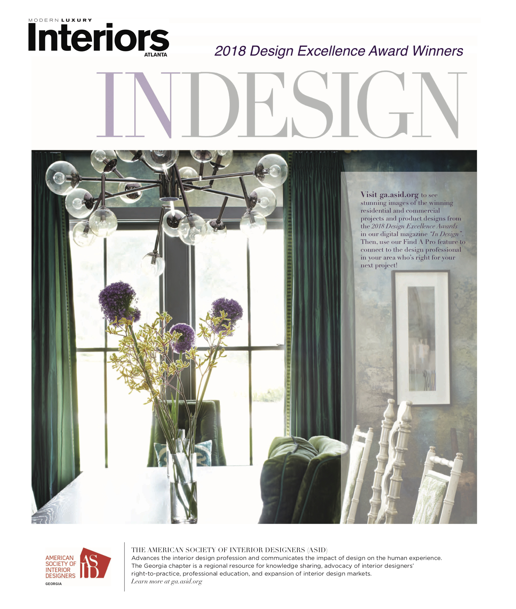 Check Out The Most Recent Issue Of The ASID Georgia Quarterly Magazine  InDesign.