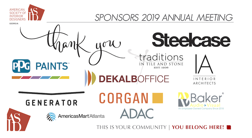SPONSORS 2019 ANNUAL MEETING