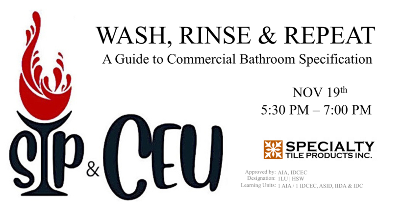SIP & CEU | WASH RINSE & REPEAT