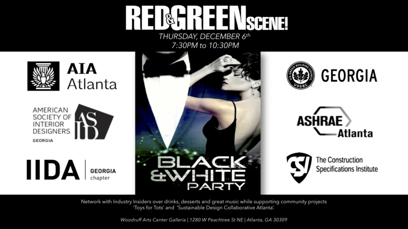 Red & Green Scene | A Black & White Affair