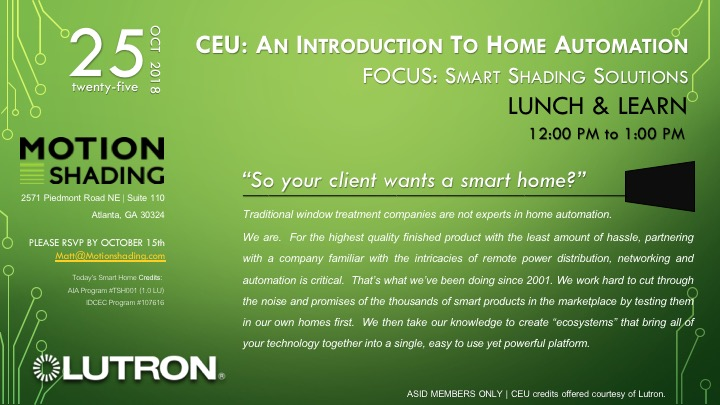 CEU: AN INTRODUCTION TO HOME AUTOMATION